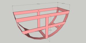 Размеры кронштейна для хранения колёс, и резины в бытовых условиях