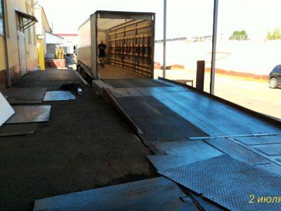 Ремонт пандуса на складе. Зона разгрузки.