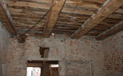 Пример перекрытия в старом доме.
